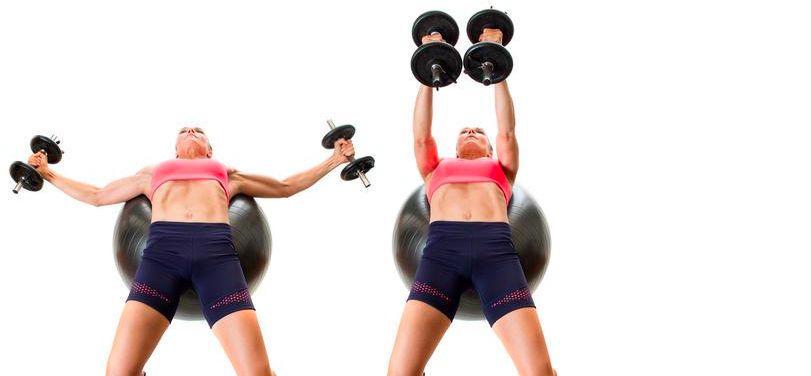 dumbbell fly workout for women