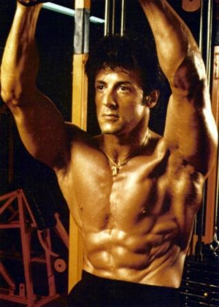 Sylvester Stallone Gym Workout