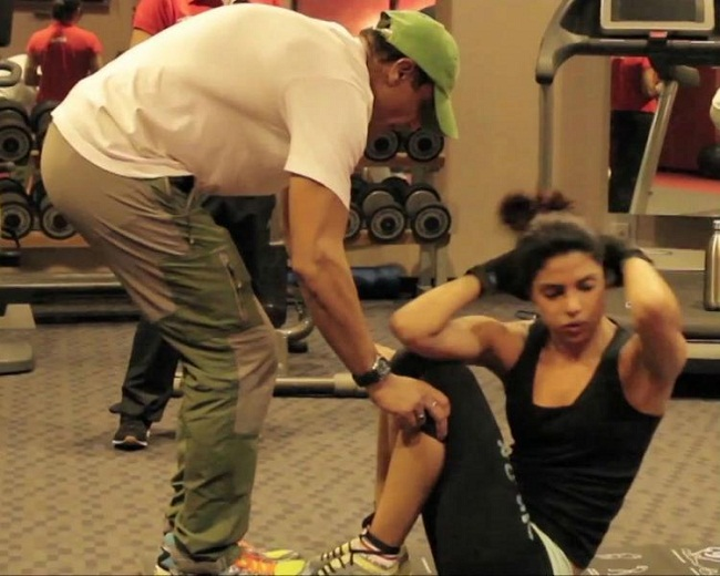 Priyanka Chopra Workout Mary Kom