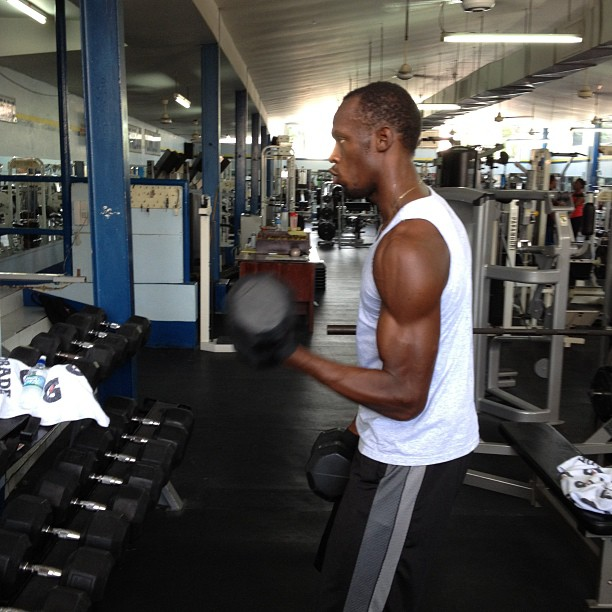 Usain Bolt Weight Training