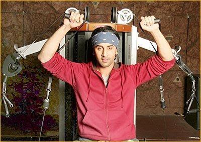 Ranbir Kapoor Workout Pictures