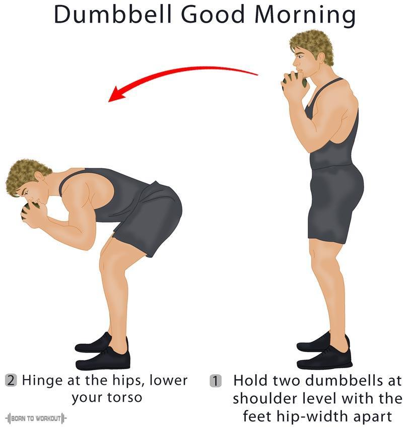Dumbbell Good Morning Exercise