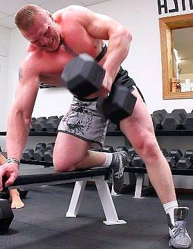 Brock Lesnar in Gym