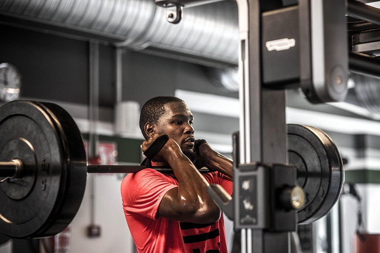 Push Pull Or Drag >> Kevin Durant Strength and Shooting Workout, and Diet Plan | Born to Workout