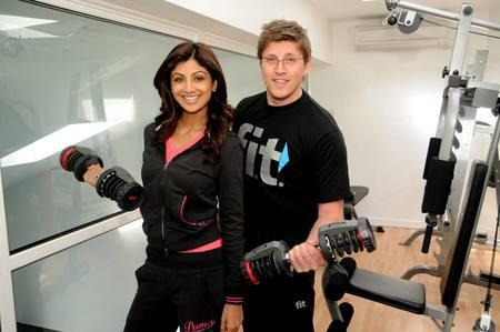 Shilpa Shetty in Gym