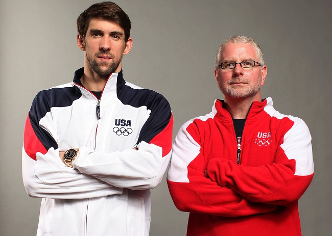 Michael Phelps and Bob Bowman