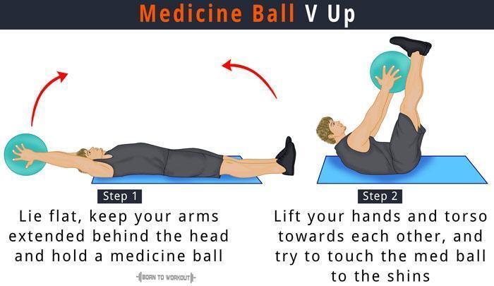 Medicine Ball V Up