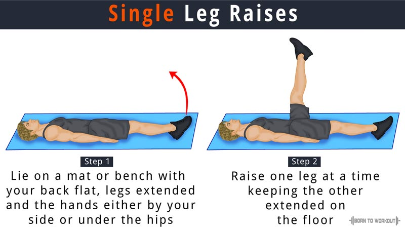 single leg raises
