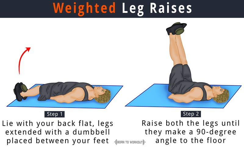 Weighted Leg Raises