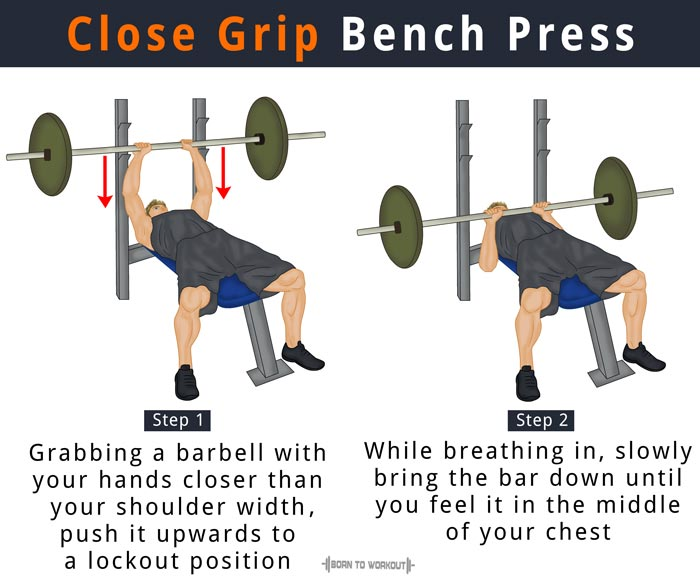 Swell Close Grip Bench Press Proper Form Benefits Muscles Ibusinesslaw Wood Chair Design Ideas Ibusinesslaworg